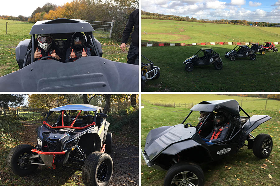 collage image of buggies at Goodwood
